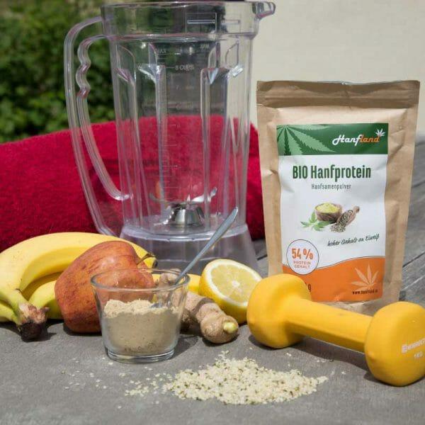 Bio hanfprotein54 lose hanfland oesterreich bananen apfel mixer 3